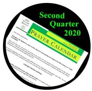 Prayer Clendar 2nd Qtr 2020